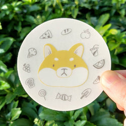 Mint and Woolly - Sticker - Grumpy Shiba