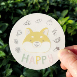 Mint and Woolly - Sticker - Happy Shiba