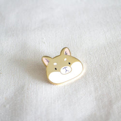 Mint and Woolly - Enamel Pin - Shiba