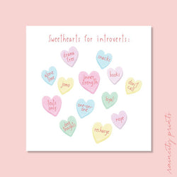 Raincity Prints - Cards - Sweethearts For Introverts