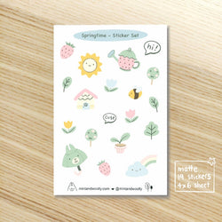 Mint and Woolly - Sticker  Sheet - Springtime