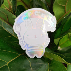 Mint and Woolly - Sticker  Sheet - Holo Bunny