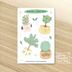 Mint and Woolly - Sticker  Sheet - Plant Pals Set A