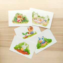 Mint and Woolly - Postcard Set - Animals in Nature