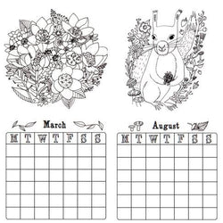Draw Me A Lion - DIY Colouring Calendar