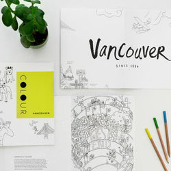 Pender Gai Books - Colouring Book Vancouver