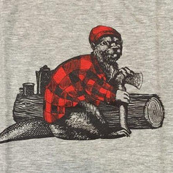 The Hive Printing - Unisex T-shirt - Hipster Beaver - Closeup