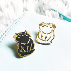 My Cat Is People - Enamel Pin - Flower Kitten Gold