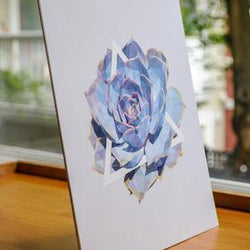 Justindeed - Prints - Blue Succulent