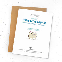 My Cat Is People - Greeting Cards - Cat Grandfather