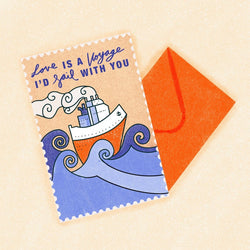 Bek Design - Card - Love is a Voyage