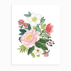 Linden Paper Co. - Prints - Peony Floral