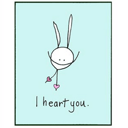 RabbitRabbit - I Heart You Card