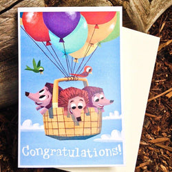 Pickle Punch – Greeting Cards - Congratulations Hedgehogs