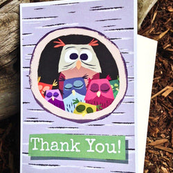 Pickle Punch – Greeting Cards - Thank You Owl