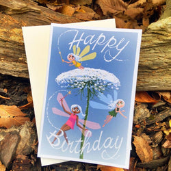 Pickle Punch – Greeting Cards - Fairy Flower Birthday Card