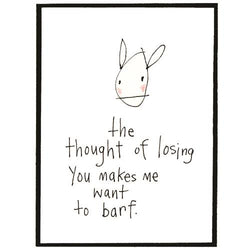 RabbitRabbit - The Thought of Losing You Card
