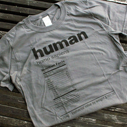 Riding The Pine - T-Shirt – Human Nutrition Facts Label