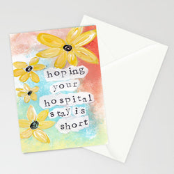 Kathleen Tennant - Card - Hoping Your Hospital Stay is Short
