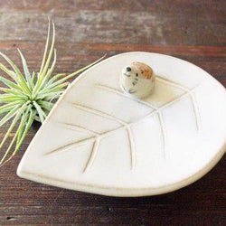 Kayo Benson - Ring Holder - Hedgehog on Leaf Dish yellow