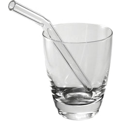 "Glass Sipper - Regular 8"" Glass Straws - Bend"