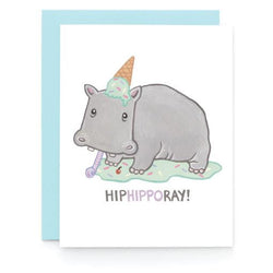 Art + Soul Creative Co - Laura Uy - Greeting Card - Hip Hippo Ray!