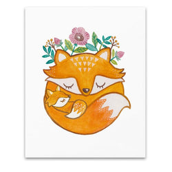 Art & Soul Creative Co - Prints - Mother and Baby Fox