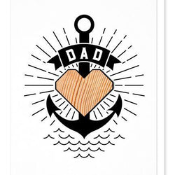 Studio Wilder Dad Tattoo Card