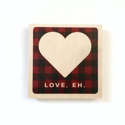 Reclaimed Print - Coaster - plaid