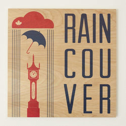 Reclaimed Print - Coaster - Graphic Raincouver