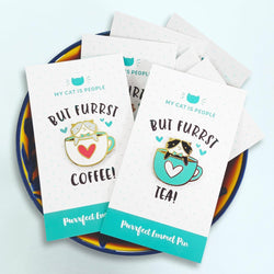My Cat Is People - Enamel Pin - but furrst - coffee tea