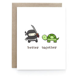 Art & Soul Creative Co - Card - Ninja + Turtle