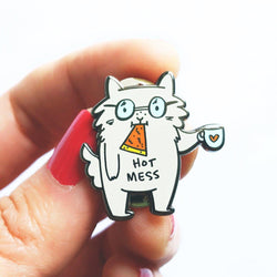 My Cat Is People - Enamel Pin - Hot Mess