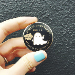 My Cat Is People - Enamel Pin – Social Ghosters Unite