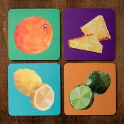 Justindeed - Coaster Set – Fruit