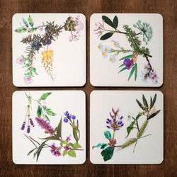 Justindeed - Coaster Set - Botanical Wreath