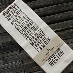 Riding The Pine - Tea Towel - West Side Bus Scroll
