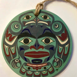 Reclaimed Print – Ornament – Haida Blue Moon