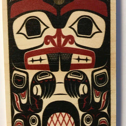 Reclaimed Print – Ornament – Haida Beaver
