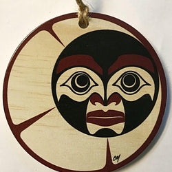 Reclaimed Print – Ornament – Haida Crescent Moon