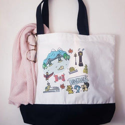 Yurie Hoyoyon - Vancouver Tote - Cotton with Black Bottom
