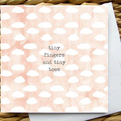 Raincity Prints - Cards - Tiny Fingers, Tiny Toes