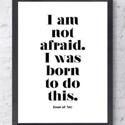 Raincity Prints - Prints - Joan Of Arc Quote
