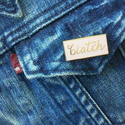 Raincity Prints - Enamel Pins - Biatch