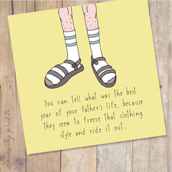 Raincity Prints - Cards - Socks and Sandals
