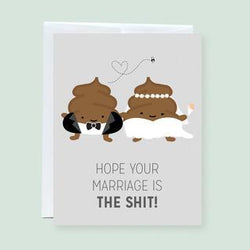 Craftedvan - Greeting Cards - Wedding Poop