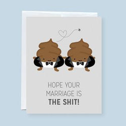 Craftedvan - Greeting Cards - Wedding Poop (Grooms Only)