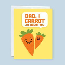 Craftedvan - Greeting Cards - Dad, I Carrot Lot About You