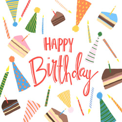 Karma Card Co. - Retro Happy Birthday Greeting Card