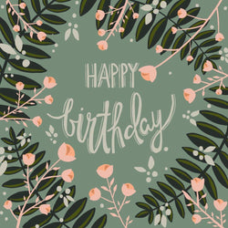 Karma Card Co. - Floral Happy Birthday Card